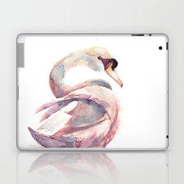 Swan Floating Away Laptop & iPad Skin