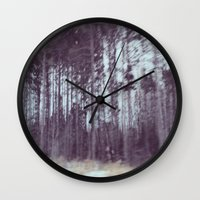 forrest gump Wall Clocks featuring Forrest by Anthony Londer