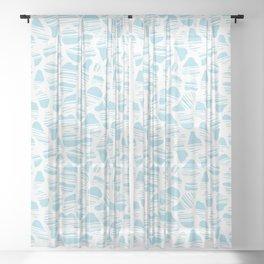 Okapi Animal Print [Island Blue] Sheer Curtain