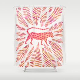 Jaguar – Pink Ombré Palette Shower Curtain