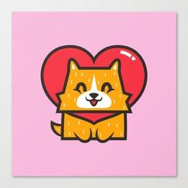 Dog Heart Canvas Print