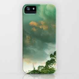 Windy sunset. Vintage iPhone Case
