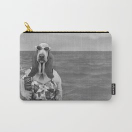 Basset Hound Beach Party Carry-All Pouch