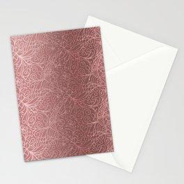 Rose Gold Floral Garden Stationery Cards