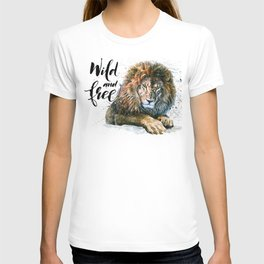 Lion 3 Wild and Free T-shirt