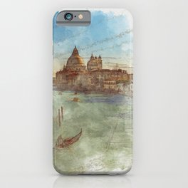 Venezia Canal Grande - SKETCH iPhone Case