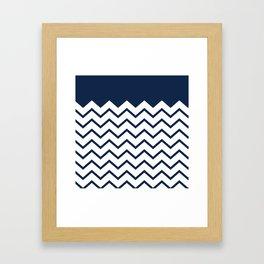 cheveron blue Framed Art Print