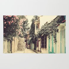 Just like a dream street (Retro and Vintage Urban, architecture photography) Rug