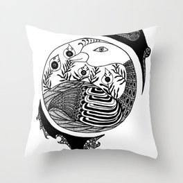 Contained  Throw Pillow