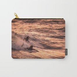 Girls catching a wave together Carry-All Pouch