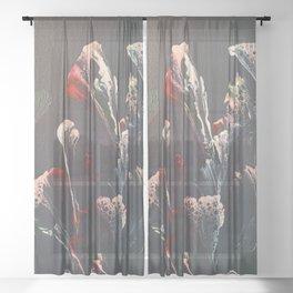 Water Flowers Sheer Curtain