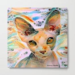 Liquid Amber Eyes Metal Print