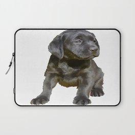 Adorable and Cute Black Labrador Puppy Vector Laptop Sleeve