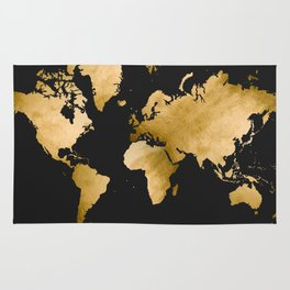 Map! (in GOLD) Rug