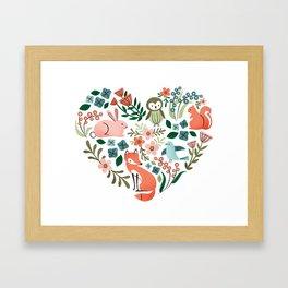 Animal Heart Framed Art Print