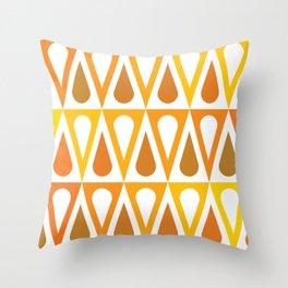 Geometric Pattern #57 (orange teardrop triangles) Throw Pillow