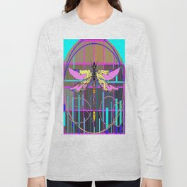 Rose colored Dragonfly Geometric AQbstract Long Sleeve T-shirt
