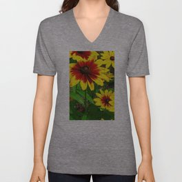 Flower | Flowers | Gaillardia Flower Garden | Nature Unisex V-Neck