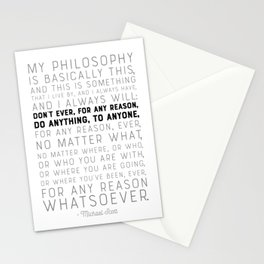 My Philosophy is Basically This - The Office - Funny Quote Stationery Cards