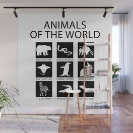 RARE ANIMALS OF THE WORLD Wall Mural