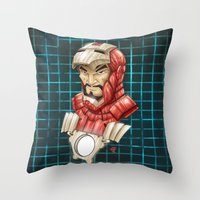 ironman Throw Pillows featuring Ironman by Fernando Cano Zapata