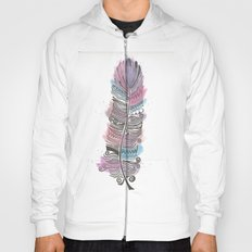 Purple and Blue Zen Feather Hoody