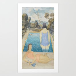 Pool Side Art Print