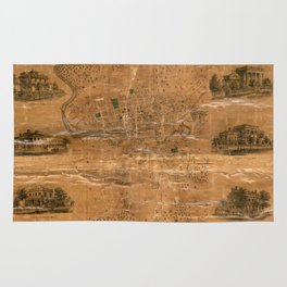 Map Of Jamestown 1856 Rug