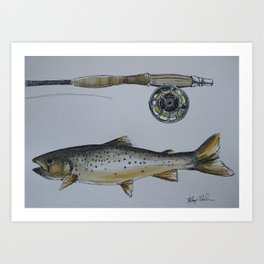 Ice Fishing Art Print