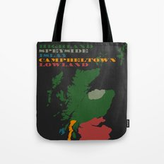 The Five Regions of Scotch Whisky Tote Bag