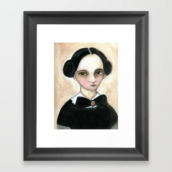 Miss Becky Framed Art Print