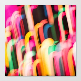 Neon Worms Canvas Print
