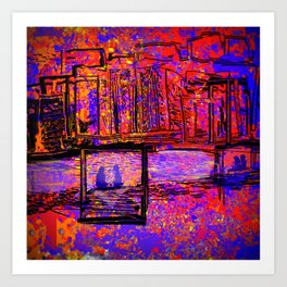 The Couple by the Bay Art Print