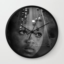 INMIGRANT IN BARCELONA (2017) Wall Clock
