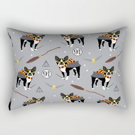 Boston Terrier witch wizard dog pattern gifts Rectangular Pillow