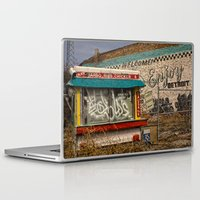 detroit Laptop & iPad Skins featuring Enjoy Detroit by AlfesDesigns