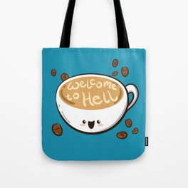 Sweet & Sinister: Blue Coffee Cup Tote Bag