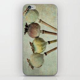 Poppy pods iPhone Skin