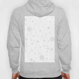 Mixed Polka Dots - Pale Gray on White Hoody