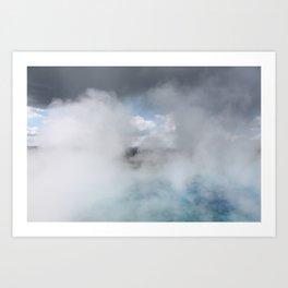 Clouds & Steam Art Print