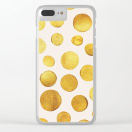 Golden Dots Clear iPhone Case