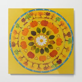 Embracing Change Mandala Original Acrylic Painting Metal Print