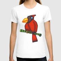 cardinal T-shirts featuring Cardinal by Striped Aardvark