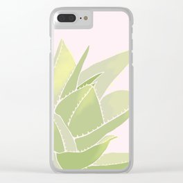 Succulents Like Pink Clear iPhone Case