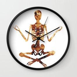 Meditating skeleton Wall Clock