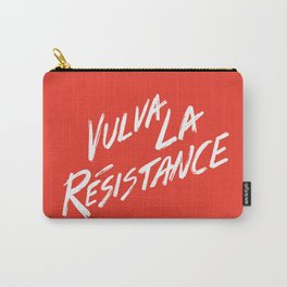 Vulva La Resistance - Feminist Art Print Carry-All Pouch