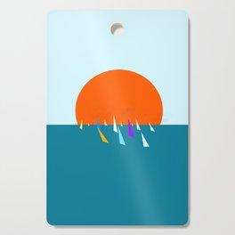 Minimal regatta in the sun Cutting Board