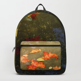Floating fallen leaves Backpack