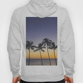 Palm Trees w/ Ombre Tropical Sunset - Hawaii Hoody