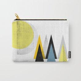 yellow geometric Scandinavian inspiration Carry-All Pouch